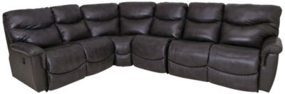 La-Z-Boy James 4-Piece Leather Reclining Sectional