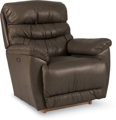 La-Z-Boy Joshua Brown Leather Power Rocker Recliner