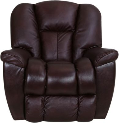 La-Z-Boy Maverick Burgundy Leather Rocker Recliner