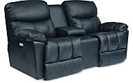 La-Z-Boy Morrison Leather Power Recline Console Loveseat