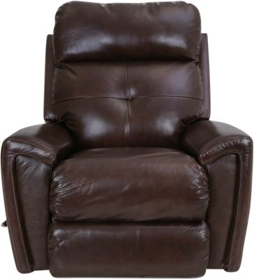La-Z-Boy Douglas Brown Leather Rocker Recliner