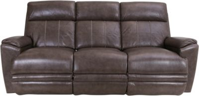 La-Z-Boy Talladega Gray Leather Reclining Sofa