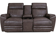 La-Z-Boy Talladega Leather Power Recline Console Loveseat