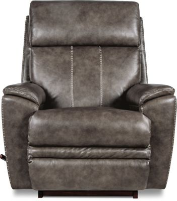 La-Z-Boy Talladega Gray Leather Rocker Recliner