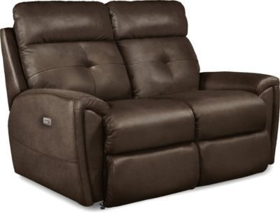 La-Z-Boy Douglas Leather Power Headrest Loveseat