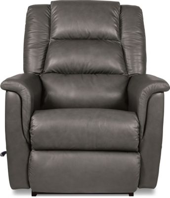 La-Z-Boy Murray Gray Leather Rocker Recliner