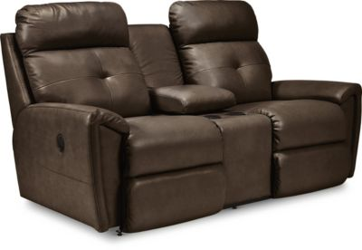 La-Z-Boy Douglas Leather Reclining Console Loveseat