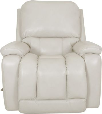 La-Z-Boy Greyson White Leather Rocker Recliner