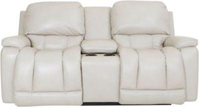 La-Z-Boy Greyson Leather Power Headrest Console Loveseat