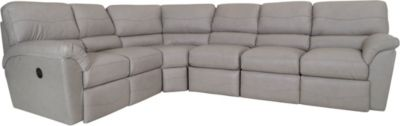 La-Z-Boy Reese 4-Piece Leather Reclining Sectional