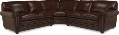 La-Z-Boy Conway 3-Piece Leather Sectional