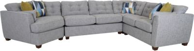 La-Z-Boy Dillon 4-Piece Sectional with Left-Facing Snuggler