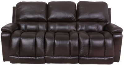 La Z Boy Greyson Brown 100 Leather Reclining Sofa