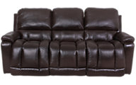 La-Z-Boy Greyson Brown 100% Leather Reclining Sofa