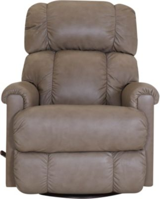 La-Z-Boy Pinnacle Taupe Leather Swivel Rocker Recliner