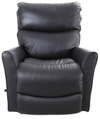 La Z Boy Rowan Black Leather Rocker Recliner Homemakers