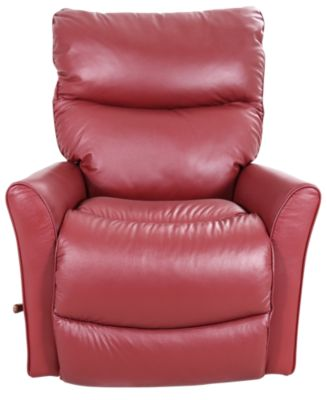 La-Z-Boy Rowan Red Leather Rocker Recliner
