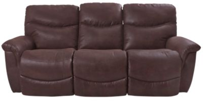 La Z Boy James Dark Brown Reclining Sofa Homemakers Furniture