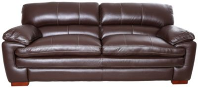 Great La Z Boy Dexter 100% Leather Chocolate Brown Sofa