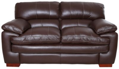 La-Z-Boy Dexter Chocolate 100% Leather Loveseat