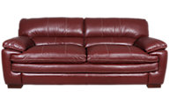 La-Z-Boy Dexter 100% Leather Red Sofa