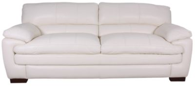 La-Z-Boy Dexter 100% Leather Ivory Sofa