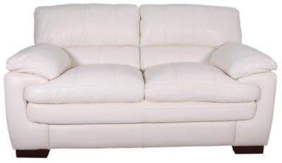 La-Z-Boy Dexter Ivory 100% Leather Loveseat
