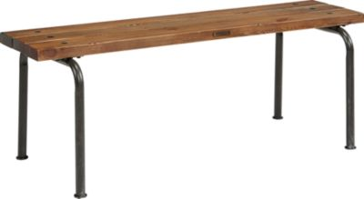 Magnolia Home Industrial Pine Plank Bench with 2 Legs