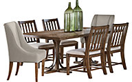 Magnolia Home Traditional Iron Trestle Table & 4 Side Chairs