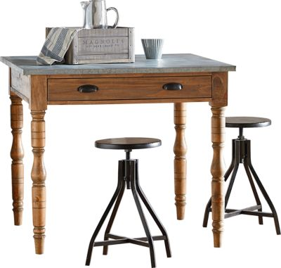 Magnolia Home Primitive Counter Table & 2 Stools