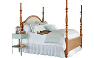 Magnolia Home Primitive King Upholstered Poster Bed