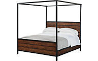 Magnolia Home Industrial Framework King Canopy Bed