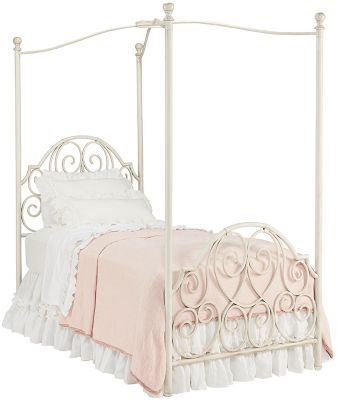 Magnolia Home Garden Gate Twin Canopy Bed