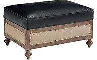 Magnolia Home Foundation Leather Ottoman