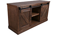 Martin Furniture Avondale Brown Barn Door Credenza