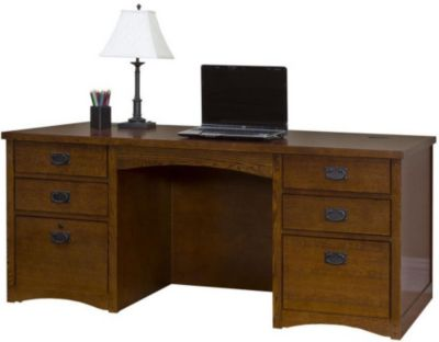 Martin Furniture Mission Pasadena Double Pedestal Desk