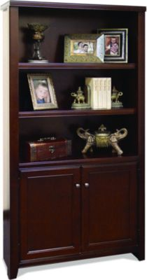 Martin Furniture Tribeca Loft Cherry Bookcase W/ Lower Doors