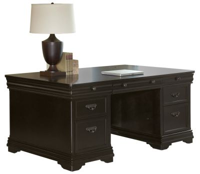 Martin Furniture Beaumont Office Double Pedestal Desk