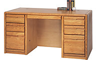 Martin Furniture Contemporary Office Double Pedestal Desk