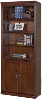 Martin Furniture Huntington Burnished Bookcase with Lower Doors