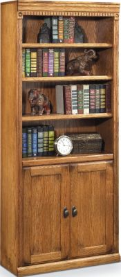 Martin Furniture Huntington Wheat Bookcase with Lower Doors