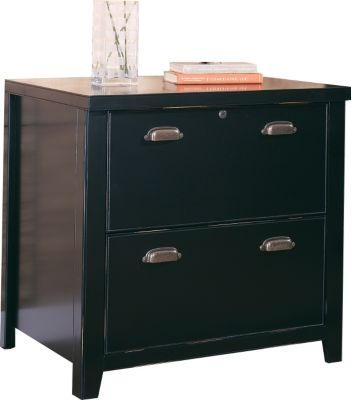 Martin Furniture Tribeca Loft Black Lateral File