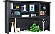 Martin Furniture Tribeca Loft Black Glass Door Hutch