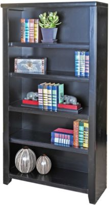 Martin Furniture Tribeca Loft Black 60-inch Bookcase