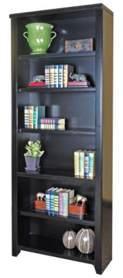 Martin Furniture Tribeca Loft Black 84-inch Bookcase