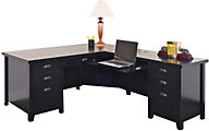 Martin Furniture Tribeca Loft Black RHF Desk