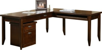 Martin Furniture Tribeca Loft Cherry Corner Desk with Return