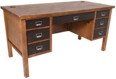 Martin Furniture Heritage Half Pedestal Desk
