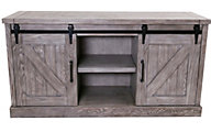 Martin Furniture Avondale Gray Barn Door Credenza