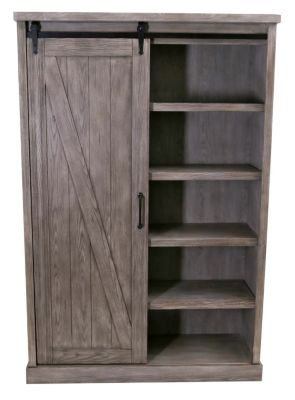 Martin Furniture Avondale Barn Door Bookcase
